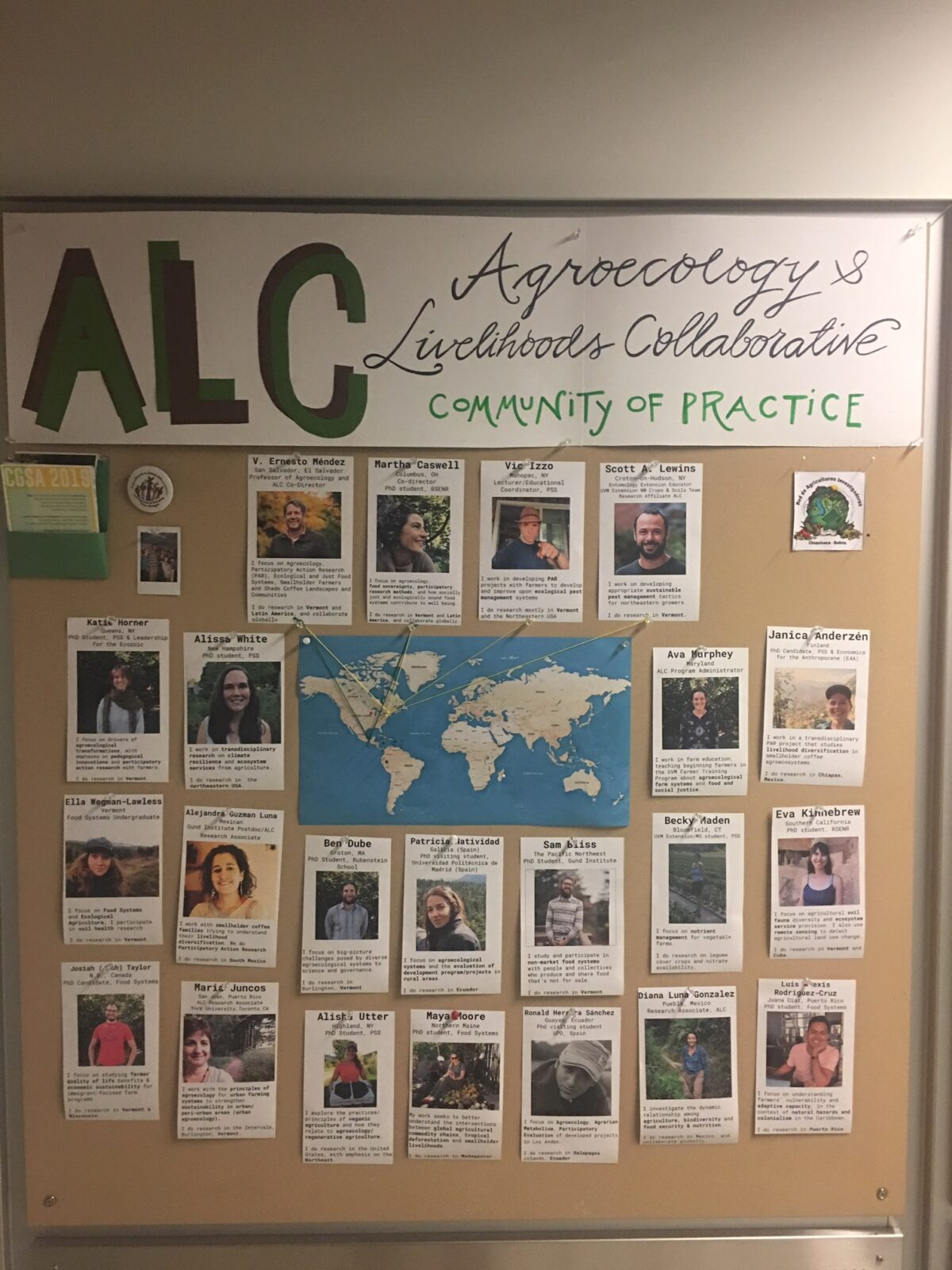 ALC visualizes and displays its community of practice