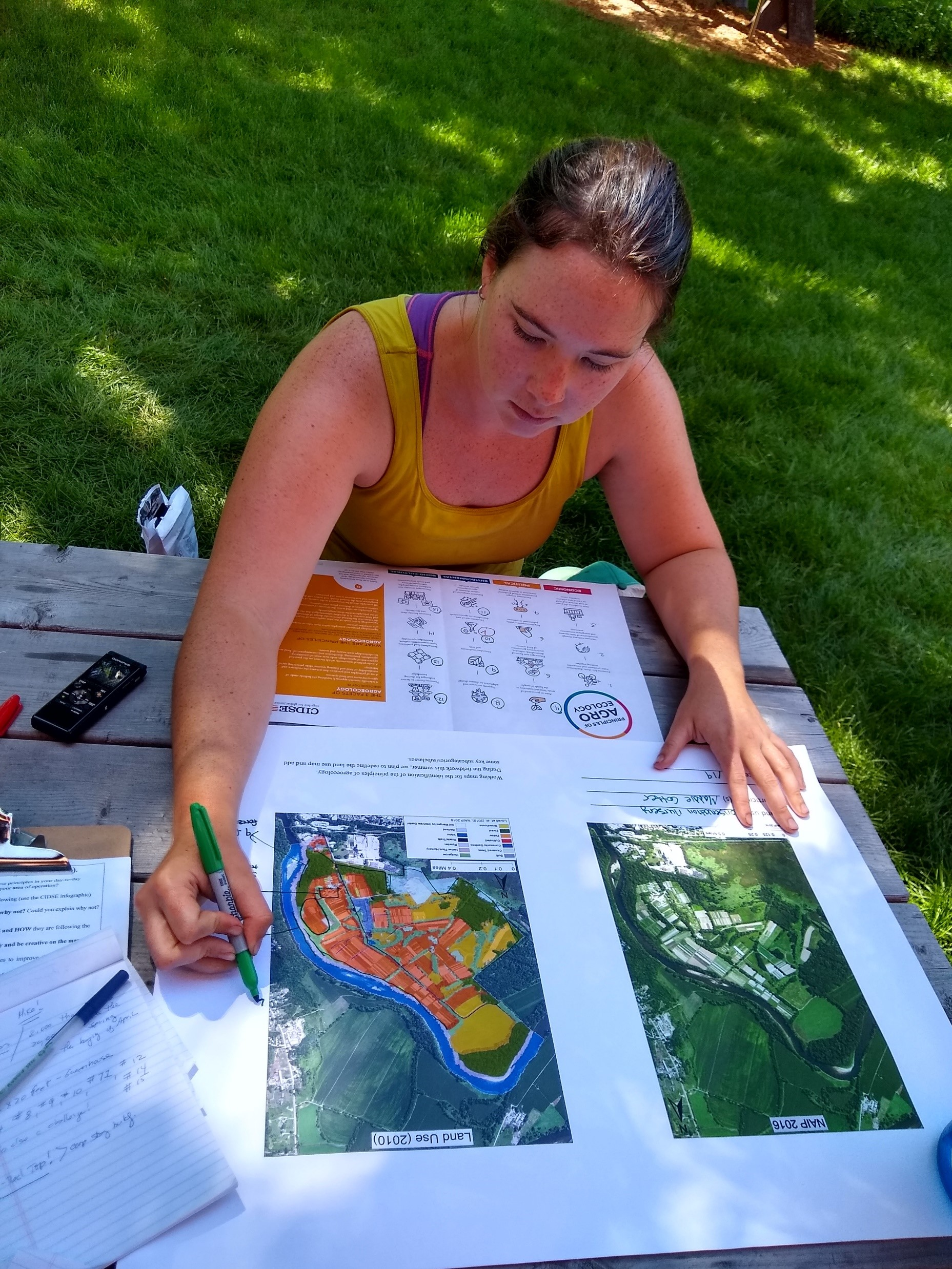 Map based data collection with the Intervale Center. Photo: María A. Juncos-Gautier