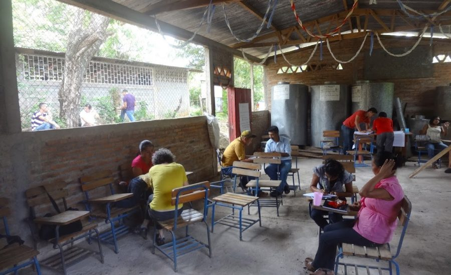 Conducting interviews on agroecological practices and resilience in Northern Nicaragua, 2015. Photo: Janica Anderzén