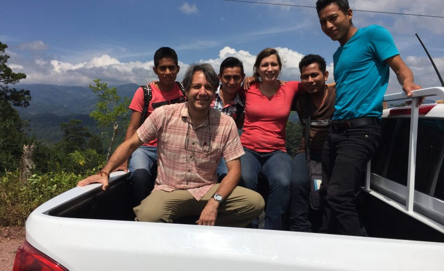 Doing field work with a local research team in the department of Copán in western Honduras, 2015. Photo: Ernesto Méndez.