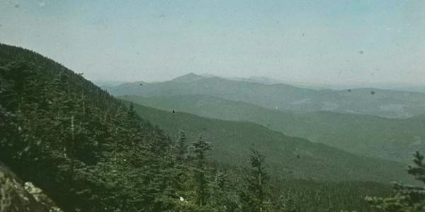 Old photograph of the Green Mountains