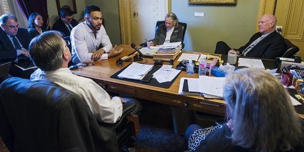 Skyler Nash meets with state senate officials