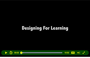 Link to Designing for Learning faculty interviews