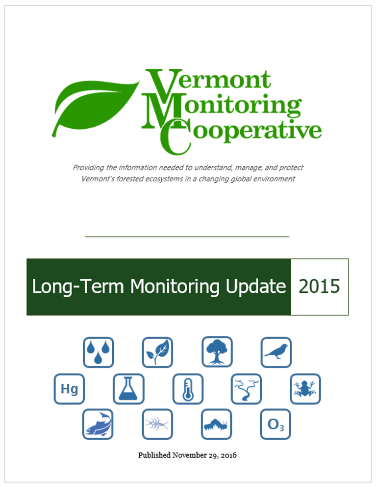 Cover page of the 2015 VMC Annual Monitoring Report