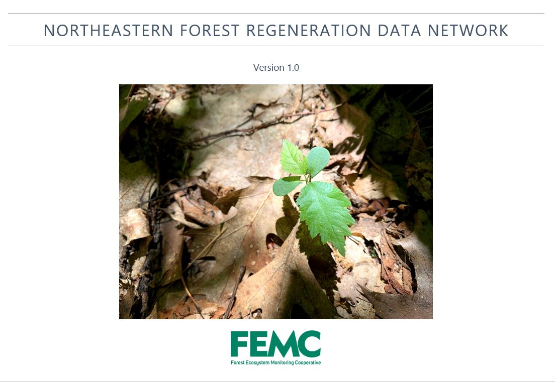 NE Forest Regeneration Data Network Report Cover
