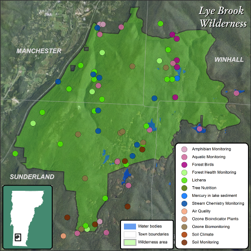 Lye Brook Map