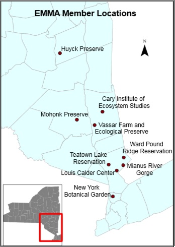Map of EMMA project sites