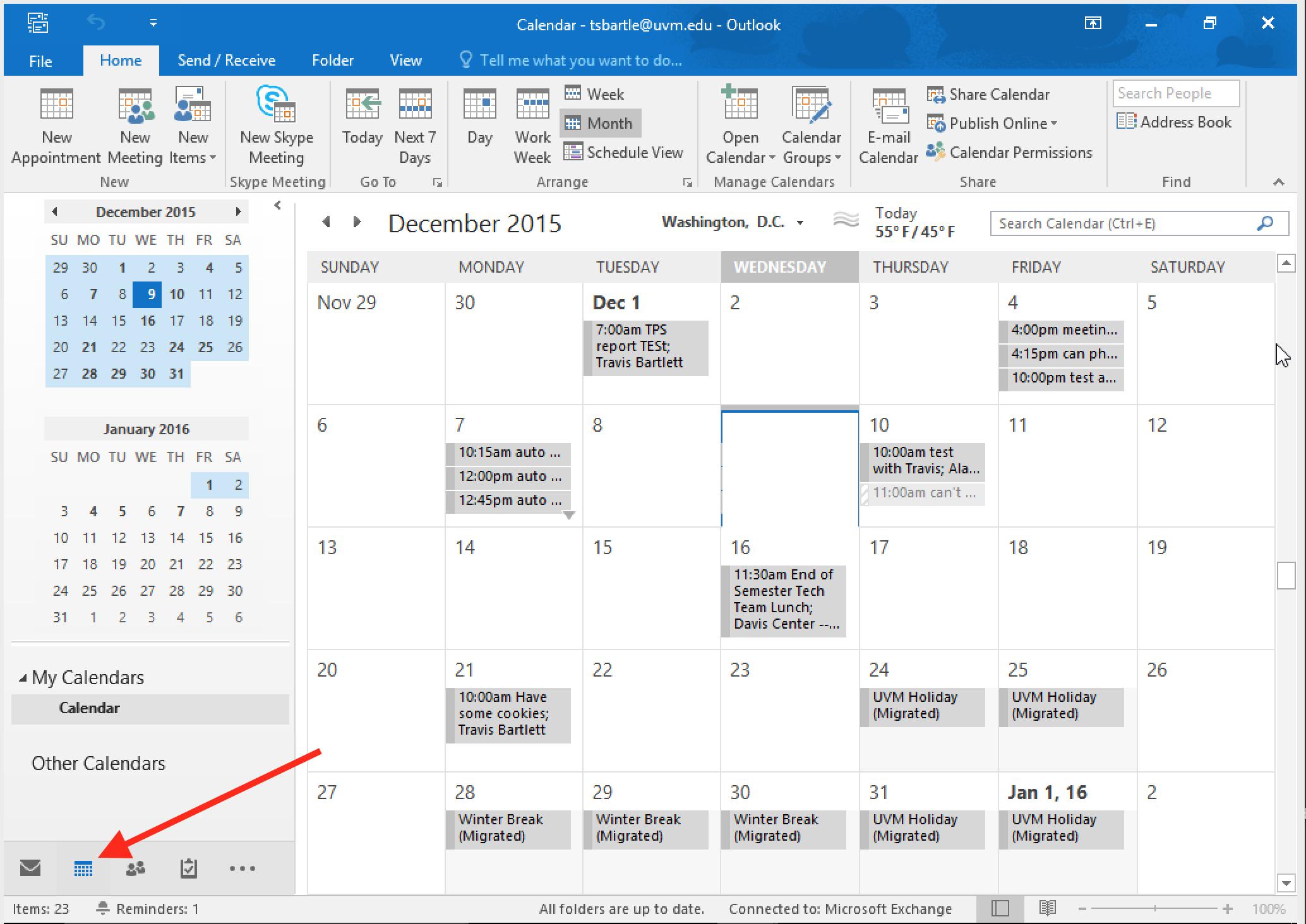 Configure Default Calendar Sharing Preferences – ETS