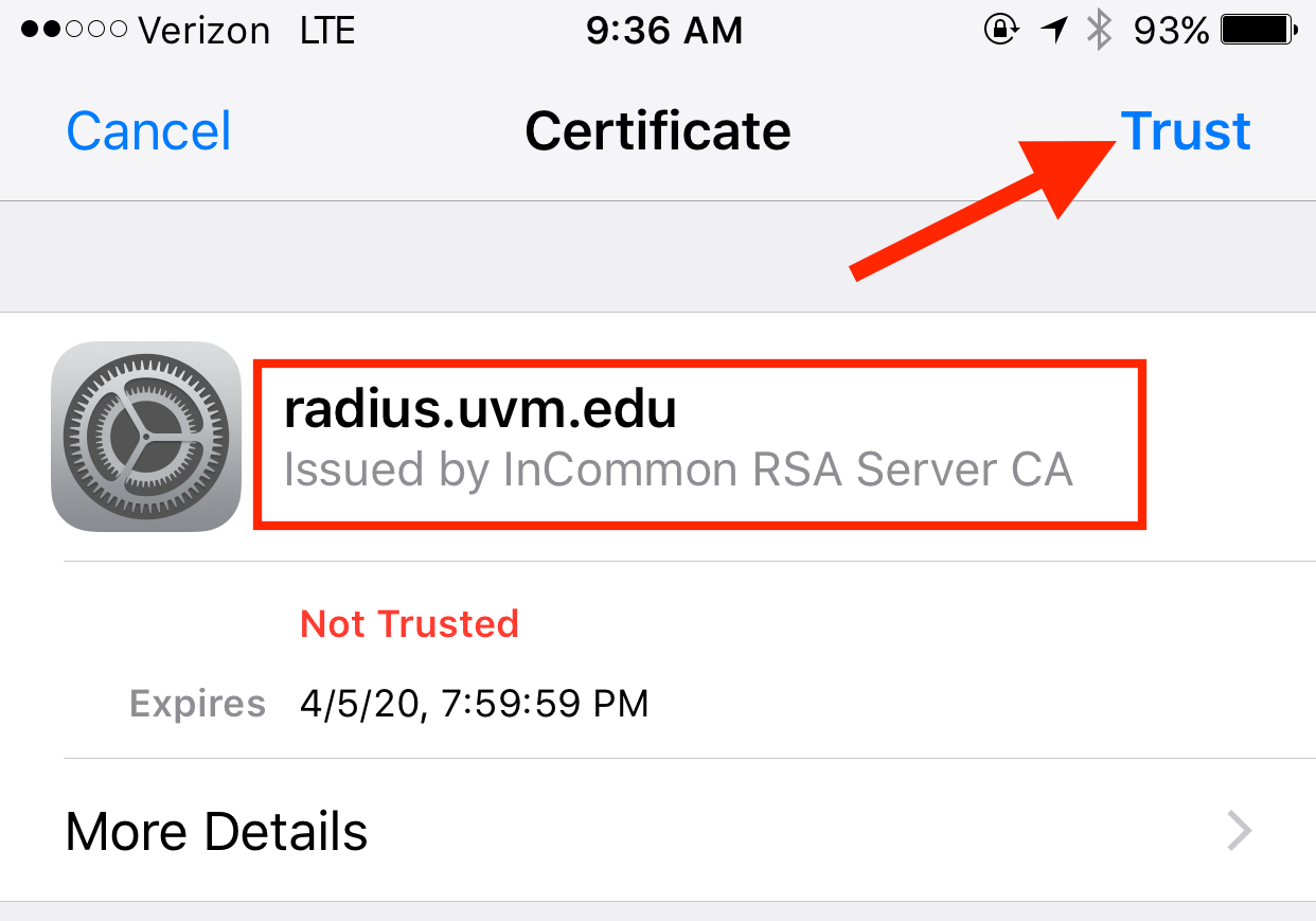Connect To Uvm Wireless Ets Knowledge Base