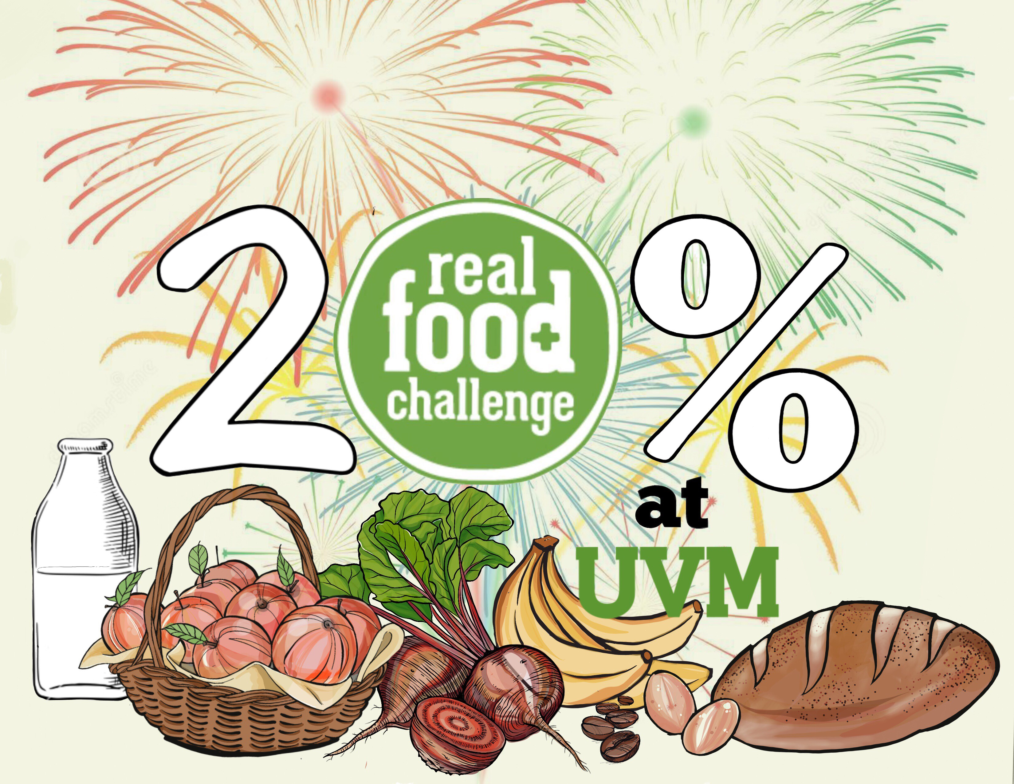 Real Food Percentage Party Logo