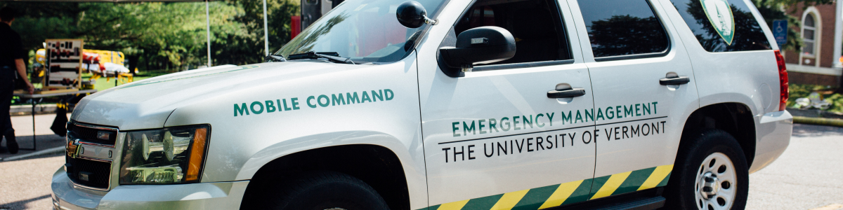 UVM Emergency Management Mobile Command Vehicle