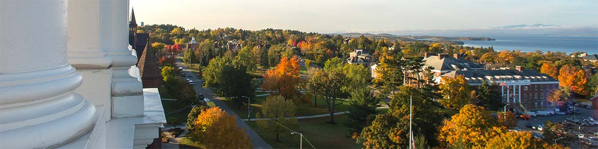 Campus view from Ira Allen Chapel