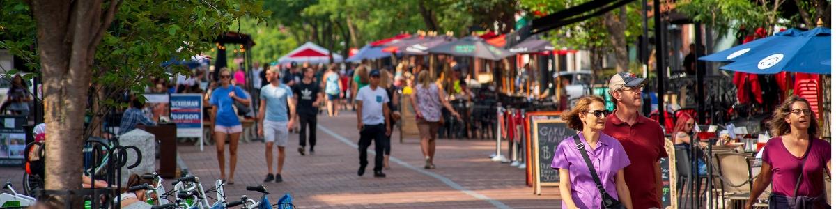 Church Street Marketplace in Burlington, VT