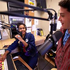 DJ hosting a radio show