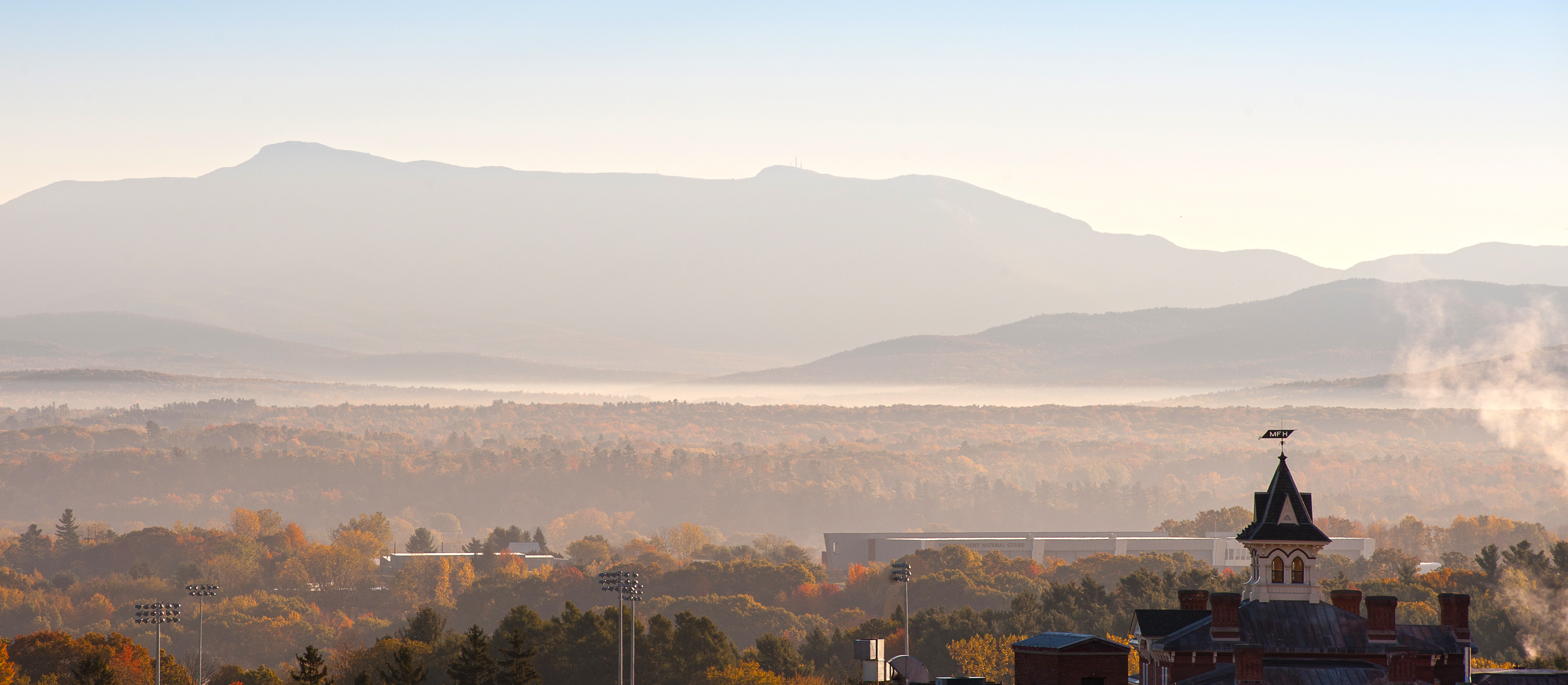 UVM Campus and Mount Mansfield