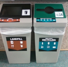 Trash and recycle bins
