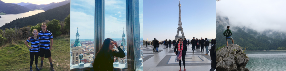 Photos of students abroad