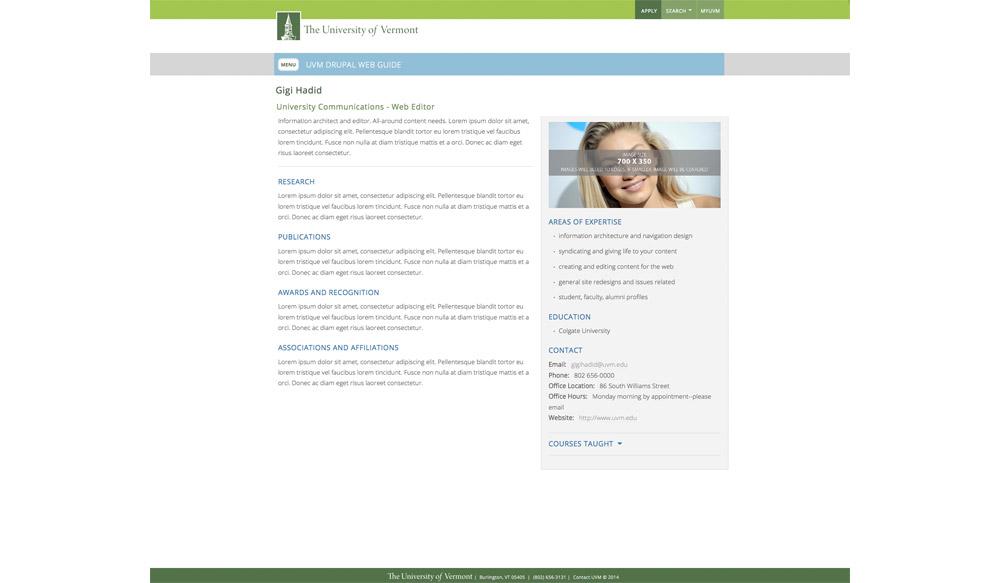 2 column profile -image