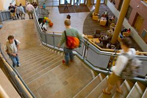 Davis Center stairwell