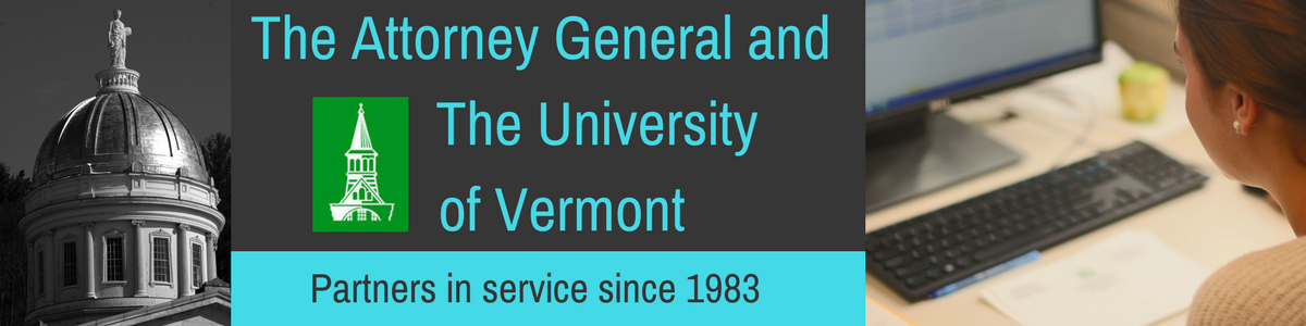 The Attorney General and the University of Vermont - Partners in Service
