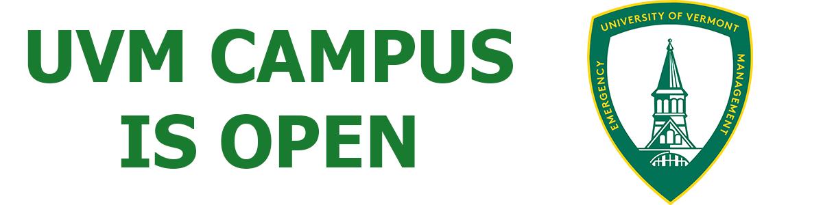 UVM Campus is Open