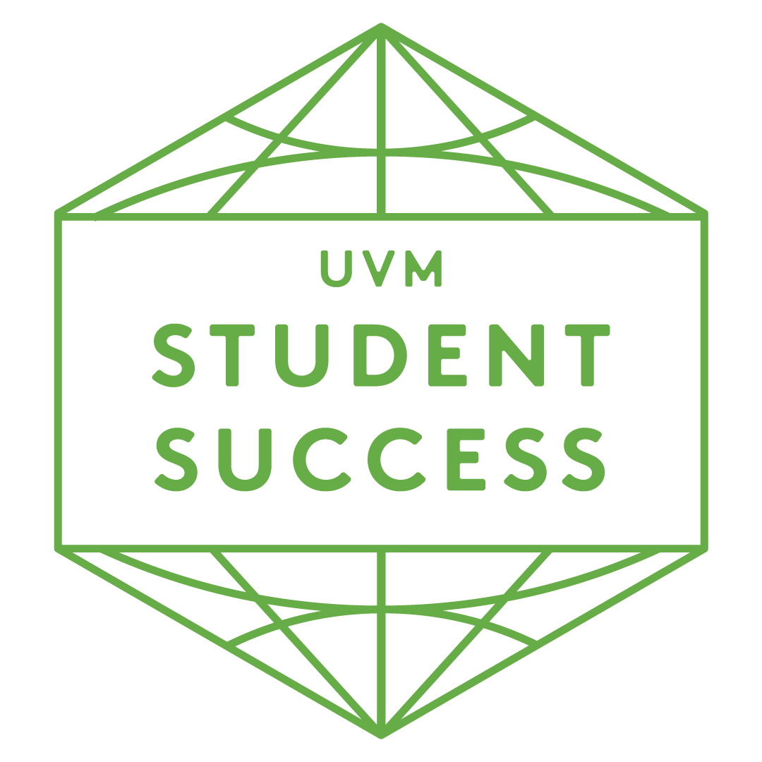 Green UVM student success badge
