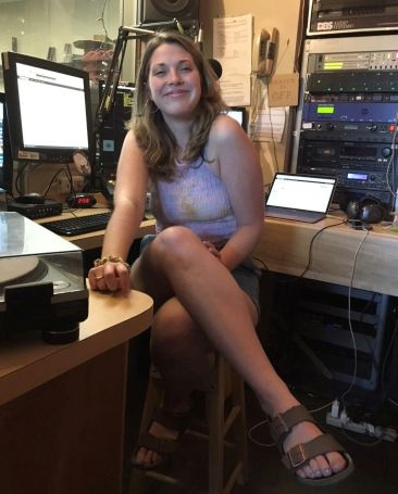 Katie Masterson in the WRUV radio station