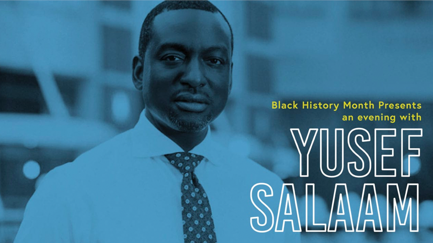 photo of yusef salaam with a button up shirt and tie