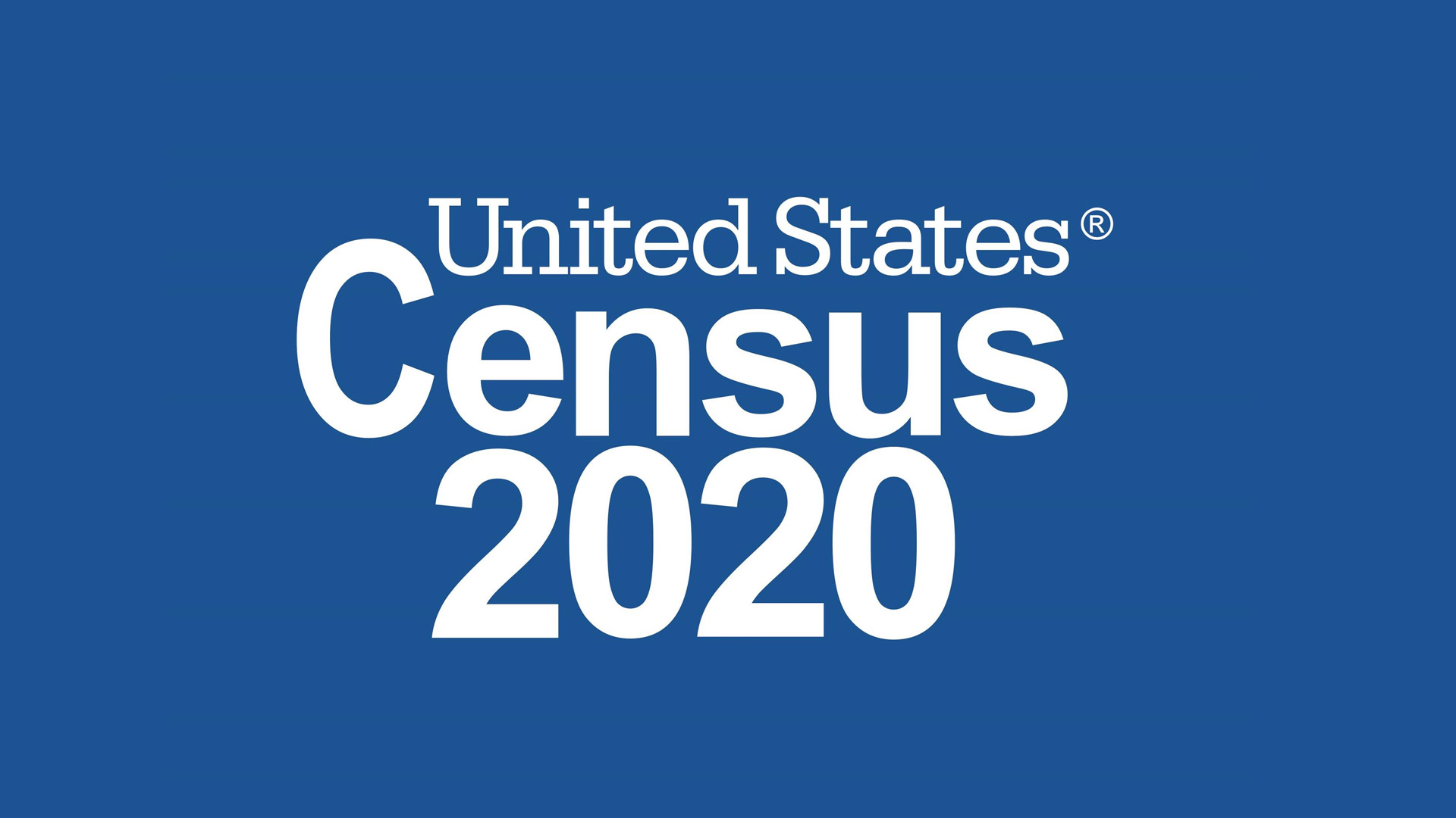 census 2020 logo with blue background
