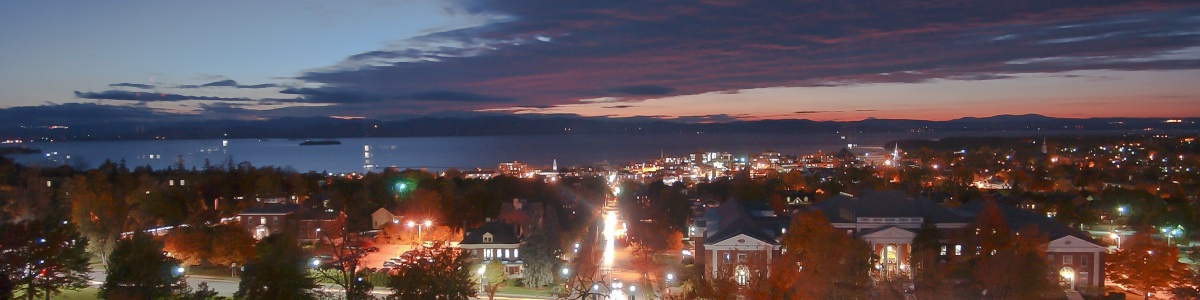 UVM at night