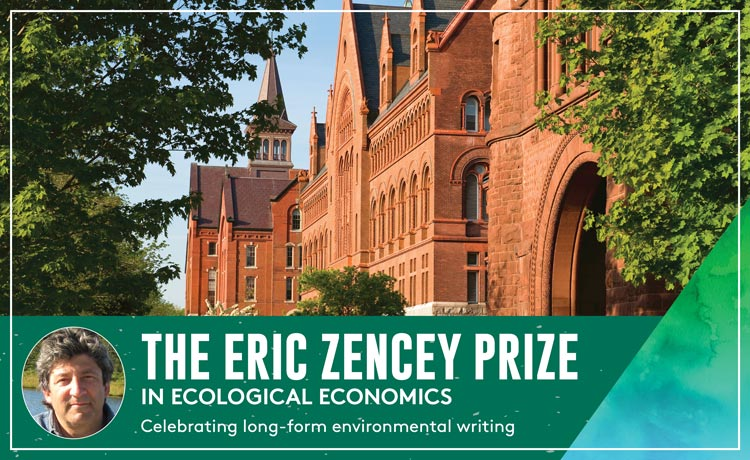 Promotional image for the Eric Zencey Prize in Ecological Economics