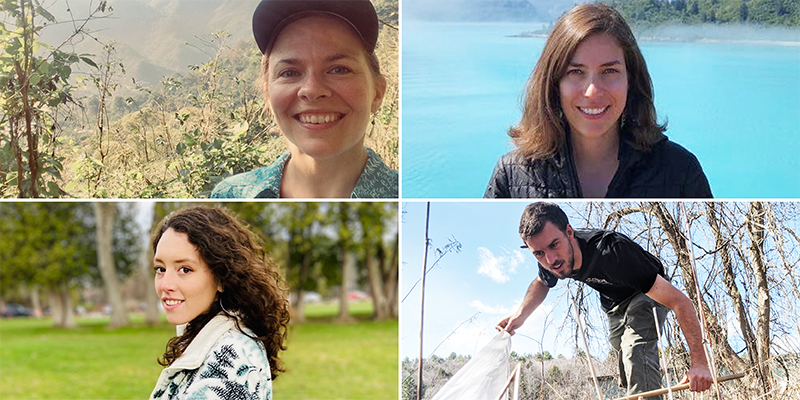 Composite image of researchers Janica Anderzen, Natalia Aristizabal, Caitlyn Williams, and Spencer Hardy