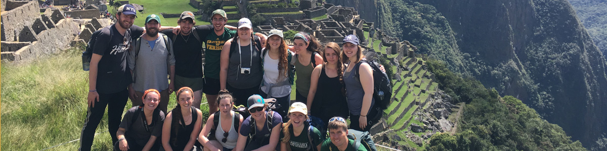 Students at Machu Pichu