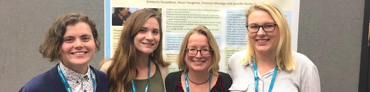 Dr. Jennifer Hurley with recent graduates of her program at the Division for Early Childhood's 34th Annual International Conference on Young Children with Disabilities.