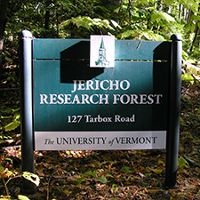 Jericho Research Forest sign