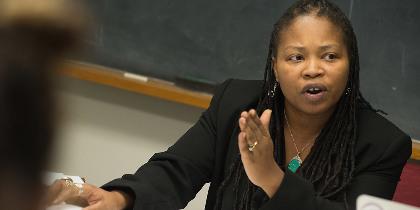 Katrinell Davis teaching students