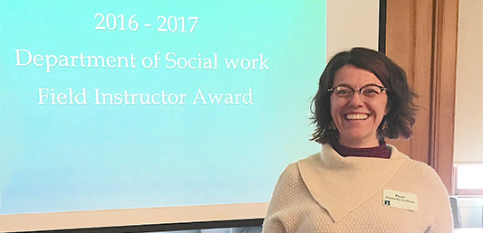 Kerri Duquette Hoffman, Field Instructor Award 2016-2017