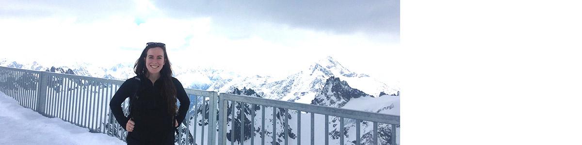 Kristen Switzer in the Swiss Alps