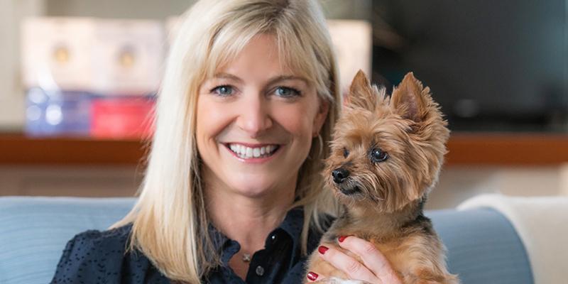 Kyla Sternlieb with dog