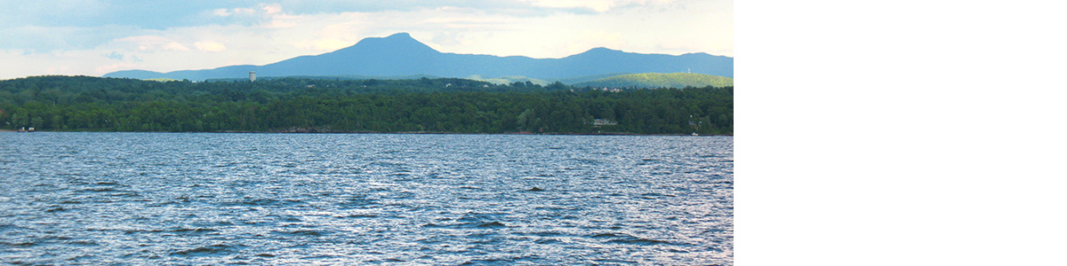 Lake Champlain and Camel's Hump in Vermont