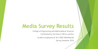 Media Survey Results