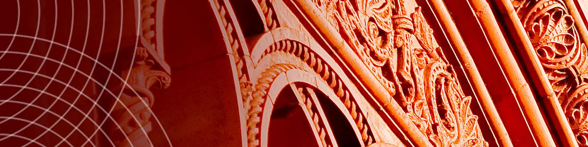 Detail of ornate brick building at UVM's University Row
