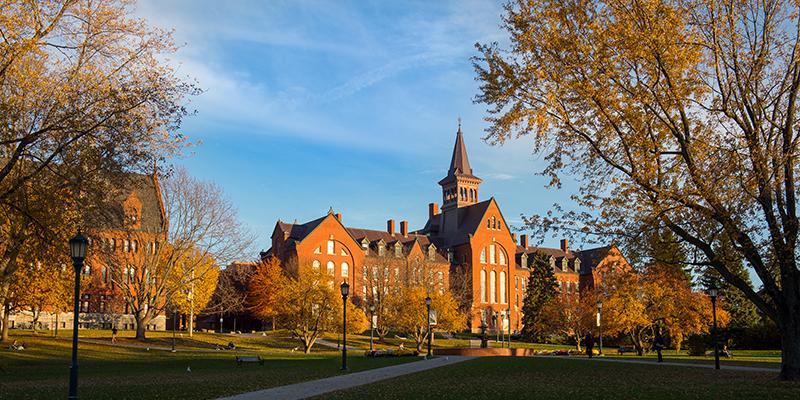 UVM Campus in fall