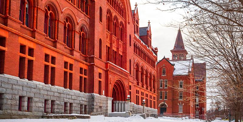 Campus Building in winter