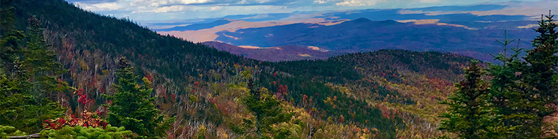 Mountain view in fall