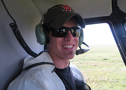 Ryan in helicopter