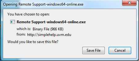 """pop-up window asking """"would you like to save this file?"""""""