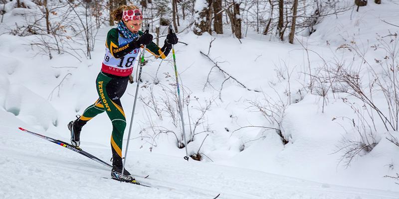 Sophie John skiing