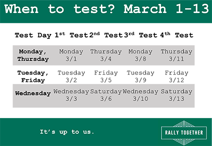 March when to test