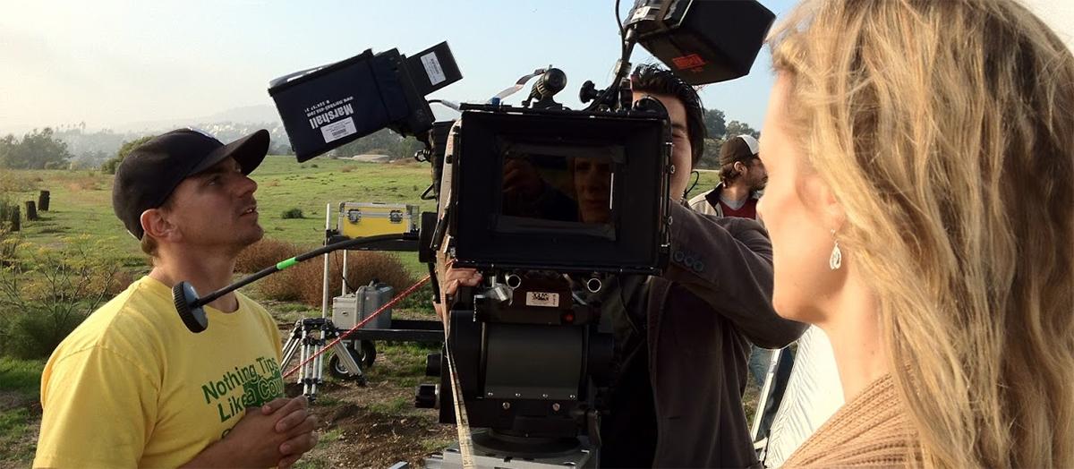Braden Duemmler films on outdoor set in 2012